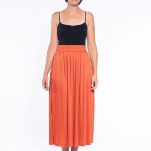 Cafe Latte Pleat Skirt - Rust