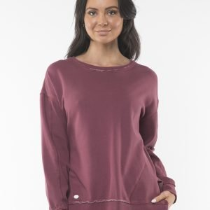Product Image of Foxwood Elements Fleur Crew - Burgundy