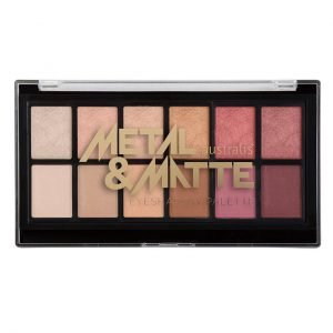 Product Display of Metal and Matte Eyeshadow Palette